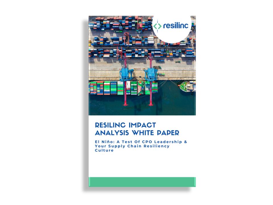 Whitepaper: Resilinc Impact Analysis – El Nino